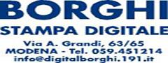 . Borghi Stampa digitale. Via A. Grandi, 63/65- Modena. Tel. 059451214
