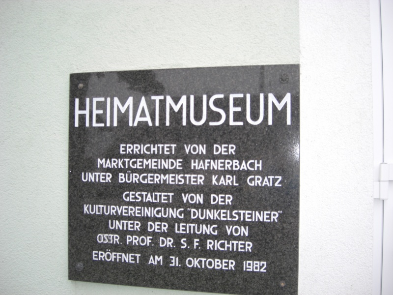 Targa del Museo di Hafnerbach