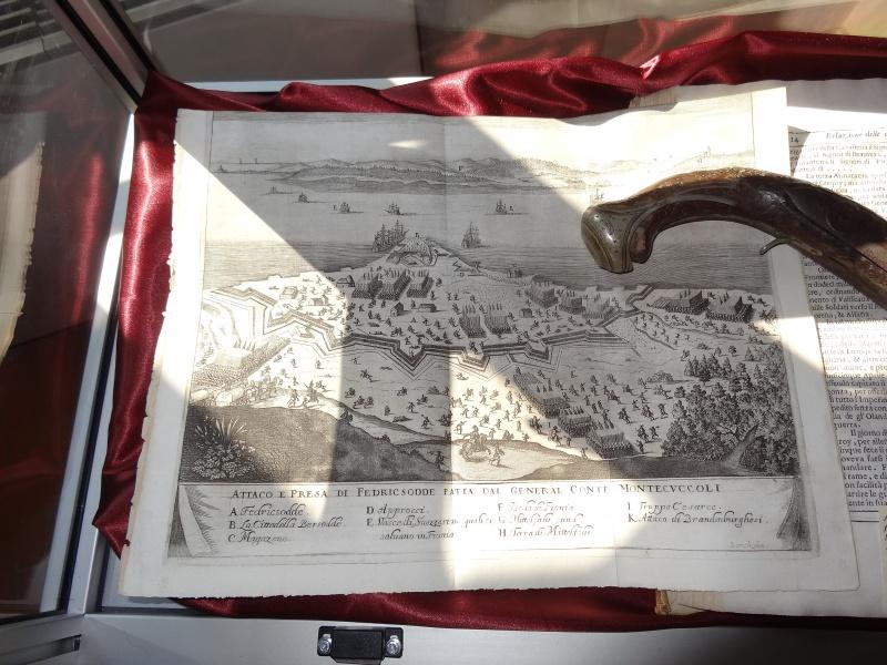 Sala dell'Austria - bacheca dedicata a Turenne - particolare della mappa