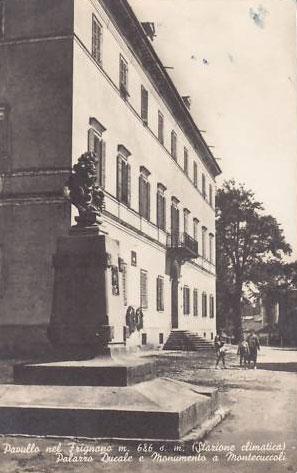 Monumento a Raimondo Montecuccoli. Cartolina anni 40