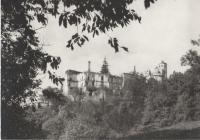 Rovine Hohenegg. Cartolina b/n anni '50/60'