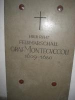 Lapide di Raimondo Montecuccoli - Vienna Chiesa Am Hof