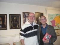 Con Anton Oetzelt responsabile del Museo Permanente su Raimondo Montecuccoli ad Hafnerbach dal 1980.