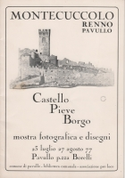 copertina della pubblicazione legata alla mostra su Montecuccolo del 1977