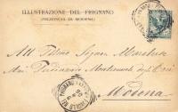 1904 Cartolina inviata a Ferdinando Montecuccoli degli Erri