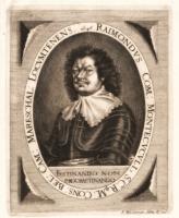 """Ritratto di Raimondo Montecuccoli in """"Comitum Gloriae Centum.."""" di Elias Wiedemann, Pressburg (odierna Bratislava) 1646"""