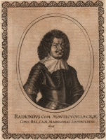 Ritratto di Raimondo Montecuccoli in Theatrum Europaeum vol.6, 1652 (II Ed. 1663, p.308), di Peter Aubry