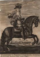 (post 1664) Raimondo Montecuccoli Arcistratega dell'Esercito Cristiano, Vincitore dei Turchi nell'Agosto 1664 - Ritratto Equestre contemporaneo - Coll. di Paolo Bernardoni