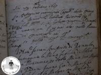 Atto di Battesimo di Raimondo 22 Febbraio 1609