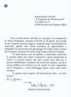Lettera dell'Arciduca  Martino d' Austria Este.