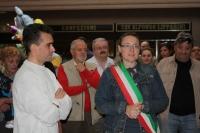 Il Vicesindaco ed Assessore alla Cultura di Pavullo, Morena Minelli ed il Presidente dell'Associazione, Oscar Cervi.