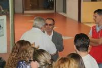 Il Prof. Andrea Pini e di spalle, il nostro Paolo Carraro.